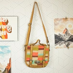 Fossil Maddox Leather Patchwork bag
